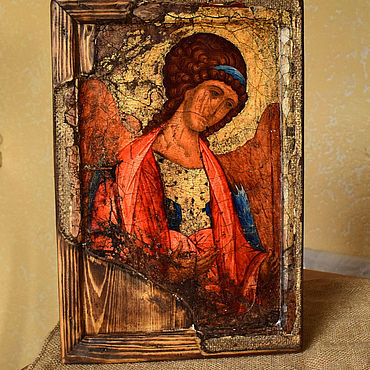 Pictures and panels handmade. Livemaster - original item The icon of Archangel Michael from the Zvenigorod Deesis tier. Handmade.