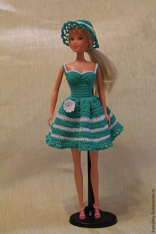 """Одежда для кукол ручной работы. Ярмарка Мастеров - ручная работа. Купить Платье """"Сказочная зелень"""" Барби. Handmade. Одежда для кукол"""