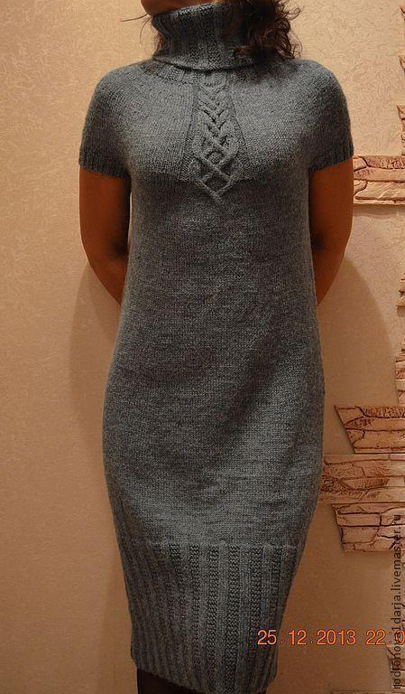 Платья ручной работы. Ярмарка Мастеров - ручная работа. Купить платье цвета полыни. Handmade. Зеленый, платье вязаное