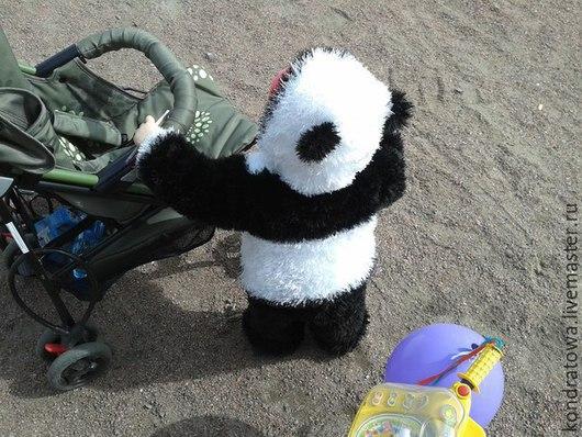 Комплекты аксессуаров ручной работы. Ярмарка Мастеров - ручная работа. Купить костюм панда. Handmade. Черный, абстрактный, пряжа травка