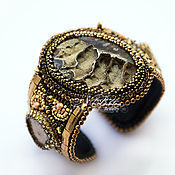 Украшения handmade. Livemaster - original item Bracelet. Simbirtseva Geode and Ammonites. Handmade.