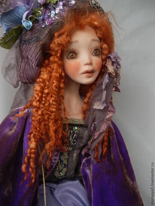 """Коллекционные куклы ручной работы. Ярмарка Мастеров - ручная работа. Купить Кукла """"Ирис"""". Handmade. Сиреневый, шелк, бархат шёлковый"""