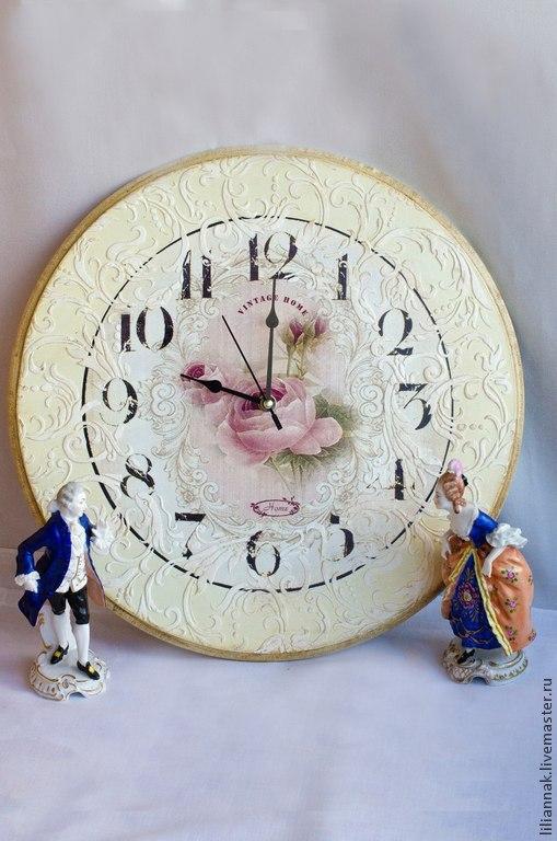 """Персональные подарки ручной работы. Ярмарка Мастеров - ручная работа. Купить Винтажные часы в стиле """"Прованс"""". Handmade. Бежевый"""