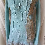 Одежда ручной работы. Ярмарка Мастеров - ручная работа Джемпер валяный Мятный пунш. Handmade.
