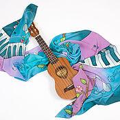 Аксессуары handmade. Livemaster - original item Turquoise silk stole
