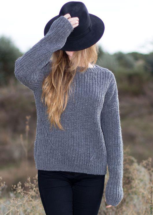 Кофты и свитера ручной работы. Ярмарка Мастеров - ручная работа. Купить свитер Софья. Handmade. Серый, свитер оверсайз