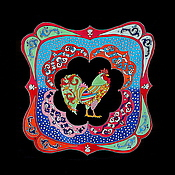 """Подарки к праздникам ручной работы. Ярмарка Мастеров - ручная работа Шелковый платок """"Ярмарка"""". Handmade."""