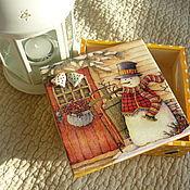 """Для дома и интерьера ручной работы. Ярмарка Мастеров - ручная работа Шкатулка """"Рождество"""". Handmade."""