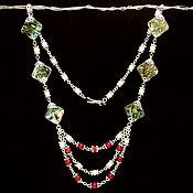 Украшения handmade. Livemaster - original item This delicate necklace with coral and Abalon. Handmade.