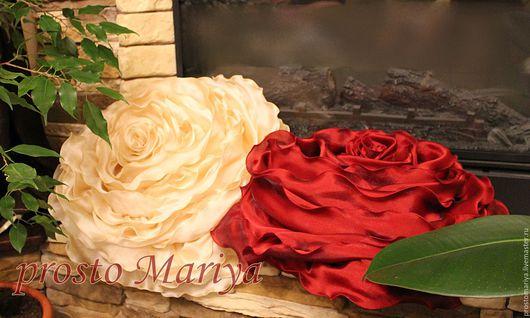 Текстиль, ковры ручной работы. Ярмарка Мастеров - ручная работа. Купить просто РОЗЫ................... Handmade. Бордовый, подарок женщине
