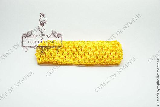 Шитье ручной работы. Ярмарка Мастеров - ручная работа. Купить Повязка на голову, ярко-желтая, 6004. Handmade. Топ