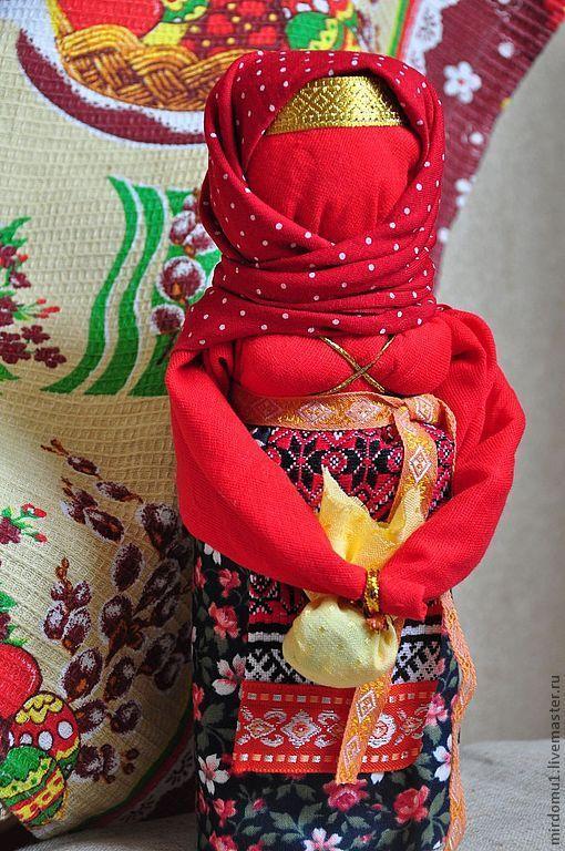 """Народные куклы ручной работы. Ярмарка Мастеров - ручная работа. Купить Традиционная русская кукла """"Вербница"""". Handmade. Ярко-красный"""