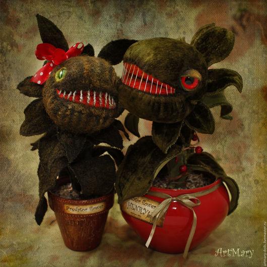 Коллекционные куклы ручной работы. Ярмарка Мастеров - ручная работа. Купить Генри и Джун. Handmade. Хищный цветок, ботаника, росянка