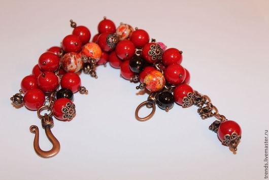 """Браслеты ручной работы. Ярмарка Мастеров - ручная работа. Купить Браслет """"Спелые ягоды"""".  Браслет из натуральных камней. Handmade."""
