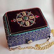 Сумки и аксессуары handmade. Livemaster - original item Handbag jewelry box ORIENTAL GIFTS, swarovski, velvet, GIMP, jacquard. Handmade.
