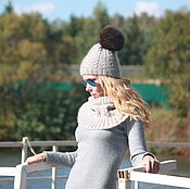 Аксессуары handmade. Livemaster - original item The hat made of Merino wool and mohair