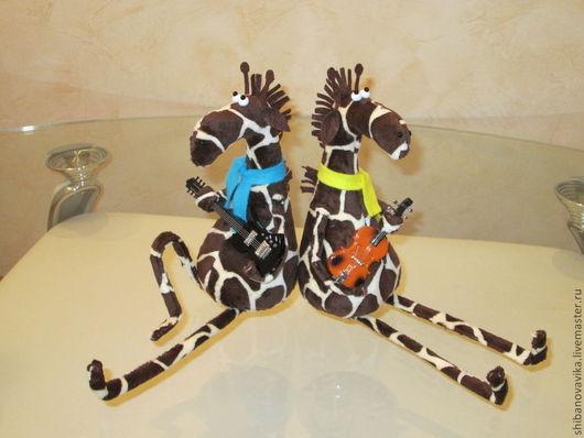 Игрушки животные, ручной работы. Жирафы. Автор Шибанова Виктория. Дизайн-студия авторских игрушек `SamiSrukami`. Ярмарка мастеров.