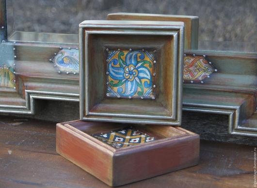 Зеркала ручной работы. Ярмарка Мастеров - ручная работа. Купить Большое настенное зеркало в деревянной раме Двое. Handmade. Зеркало