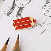 Украшения handmade. Livemaster - original item brooches: Pencil. Handmade.
