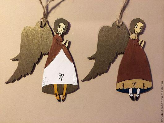 Новый год 2017 ручной работы. Ярмарка Мастеров - ручная работа. Купить Ангел новогодний - золотой и красный. Handmade. Ангел, ангелок