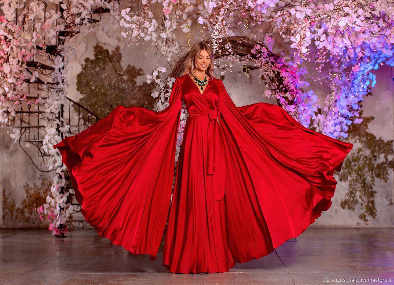 Солнце красное! Яркое летнее шёлковое платье, Платья, Санкт-Петербург, Фото №1