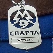 "Украшения handmade. Livemaster - original item Badge ""Sparta"" based on the game ""Metro 2033"". Handmade."