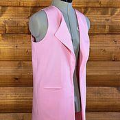 """Одежда ручной работы. Ярмарка Мастеров - ручная работа Жилет на подкладе """"Розовая нежность"""". Handmade."""