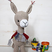 Stuffed Toys handmade. Livemaster - original item The toy is knitted of an Alpaca. Handmade.