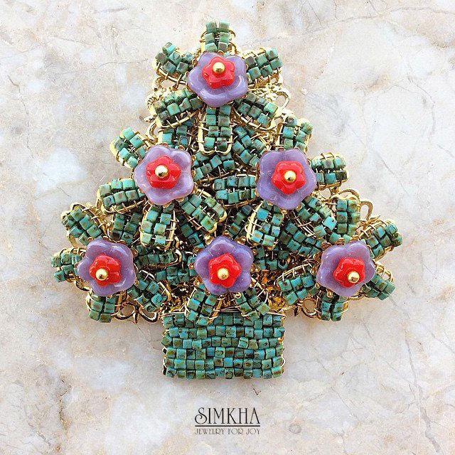 brooch Christmas tree, Brooches, Netanya,  Фото №1