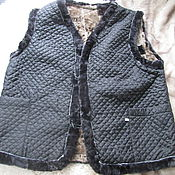 Одежда handmade. Livemaster - original item Men`s vests made of sheepskin(Mouton). Handmade.
