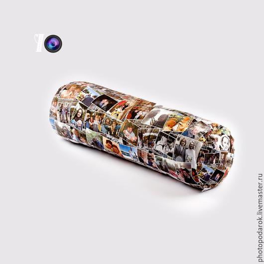 Фоторамки ручной работы. Ярмарка Мастеров - ручная работа. Купить Подушка Валик с фото. Handmade. Разноцветный, подушка, подарок, фоторамка