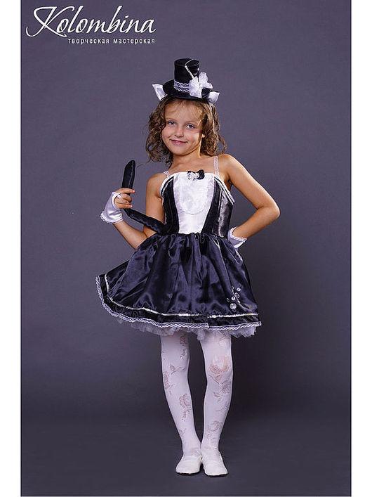 Детские карнавальные костюмы ручной работы. Ярмарка Мастеров - ручная работа. Купить карнавальный костюм кошки чёрный. Handmade. Черный
