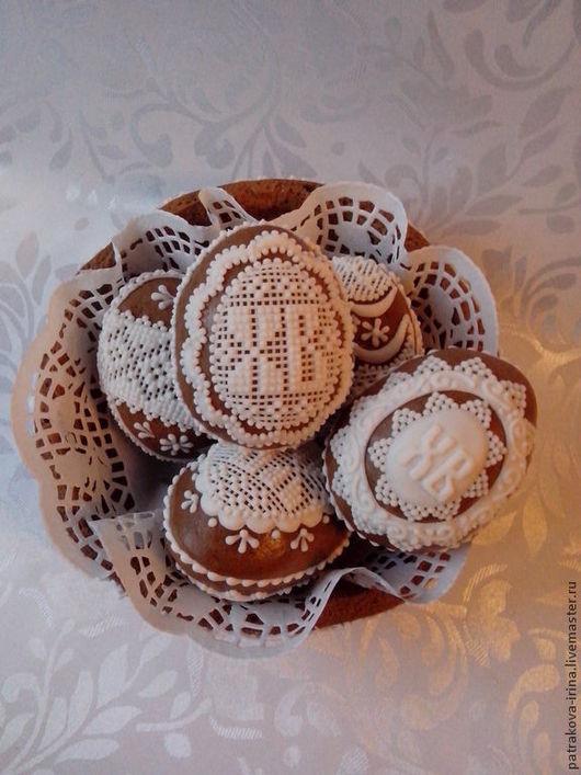 Кулинарные сувениры ручной работы. Ярмарка Мастеров - ручная работа. Купить Объемные пряничные яйца. Handmade. Белый, пряники на заказ