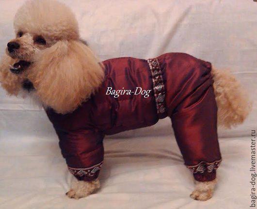 Одежда для собак, ручной работы. Ярмарка Мастеров - ручная работа. Купить Зимний комбинезон для пуделя. Handmade. Бордовый, одежда для кхс