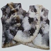 Одежда handmade. Livemaster - original item Felted baby vest. Handmade.