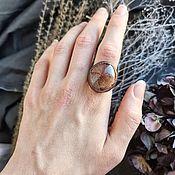 Украшения handmade. Livemaster - original item Copper ring with rutile quartz (volosatik) No. 4. Handmade.