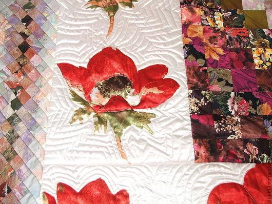 Текстиль, ковры ручной работы. Ярмарка Мастеров - ручная работа. Купить Покрывало  Красные маки. Handmade. Покрывало, стиль