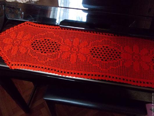 """Текстиль, ковры ручной работы. Ярмарка Мастеров - ручная работа. Купить Дорожка""""Валенсия"""". Handmade. Рыжий, дорожка на комод"""
