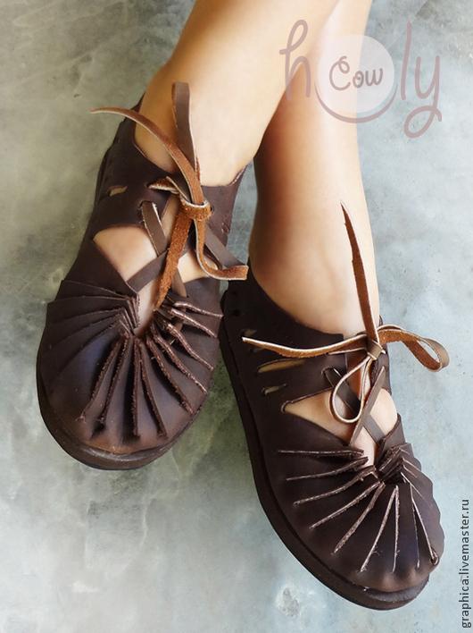 """Обувь ручной работы. Ярмарка Мастеров - ручная работа. Купить Кожаные сандалии ручной работы """"Lets Dance"""". Handmade. Коричневый"""