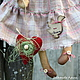 Ароматизированные куклы ручной работы. Луша. Арина Бадьянова. Текстильные куклы. (badyanova). Интернет-магазин Ярмарка Мастеров. Коричневый