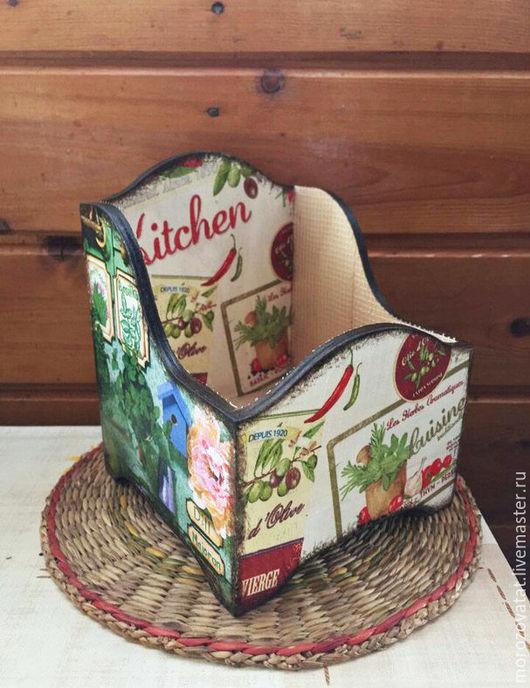 """Кухня ручной работы. Ярмарка Мастеров - ручная работа. Купить Коробочка для специй """"Дачная"""". Handmade. Зеленый, короб для хранения, Декупаж"""