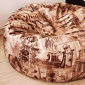 Для дома и интерьера ручной работы. Ярмарка Мастеров - ручная работа Чехол для Пуфа, подушка для пола. Авторская задумка. ручная работа. Handmade.