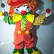 Куклы и игрушки ручной работы. Клоун Милашка!!!. Любовь Токарева (Tokareva1987). Ярмарка Мастеров. Цирк, каркас пластиковый, вельвет