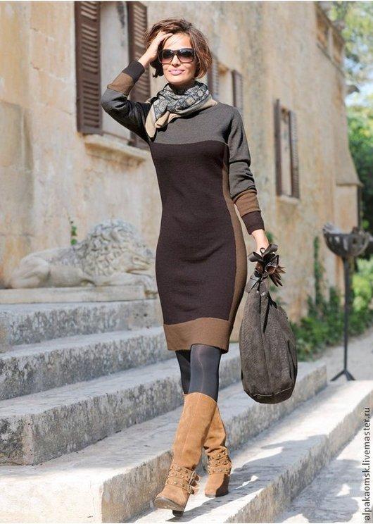 Платья ручной работы. Ярмарка Мастеров - ручная работа. Купить платье трикотажное. Handmade. Абстрактный, трикотажное платье