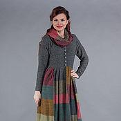 Одежда ручной работы. Ярмарка Мастеров - ручная работа Вязаное лоскутное платье. Handmade.