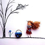 Украшения handmade. Livemaster - original item brooch girl