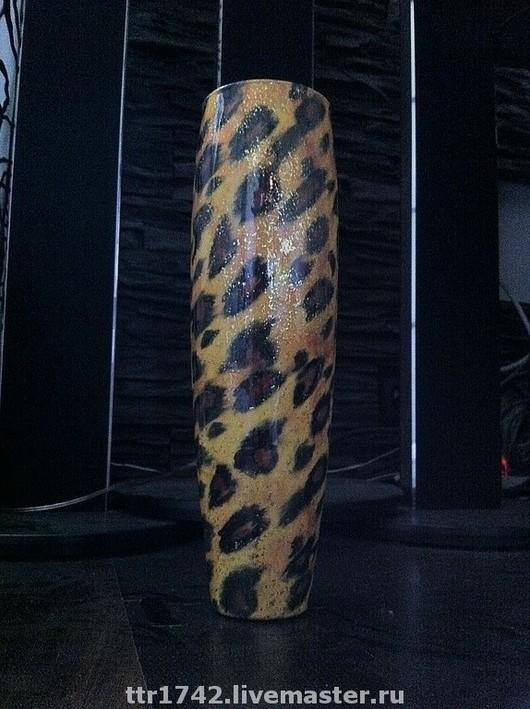 """Вазы ручной работы. Ярмарка Мастеров - ручная работа. Купить Ваза """"Леопард"""". Handmade. Ваза, для интерьера, подарок, африканские мотивы"""