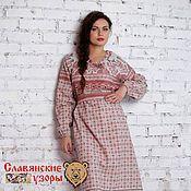 """Одежда handmade. Livemaster - original item Платье льняное """"Дева"""". Handmade."""