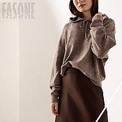 Одежда handmade. Livemaster - original item Jerseys: Brown Alpaca Sweater Women`s Sweater. Handmade.