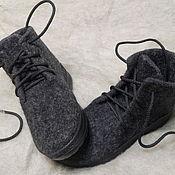 Обувь ручной работы. Ярмарка Мастеров - ручная работа Ботинки валяные из шерсти ручной работы. Handmade.